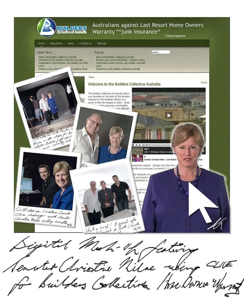 Digital Mash Up - Senator Christine Milne and BCA website