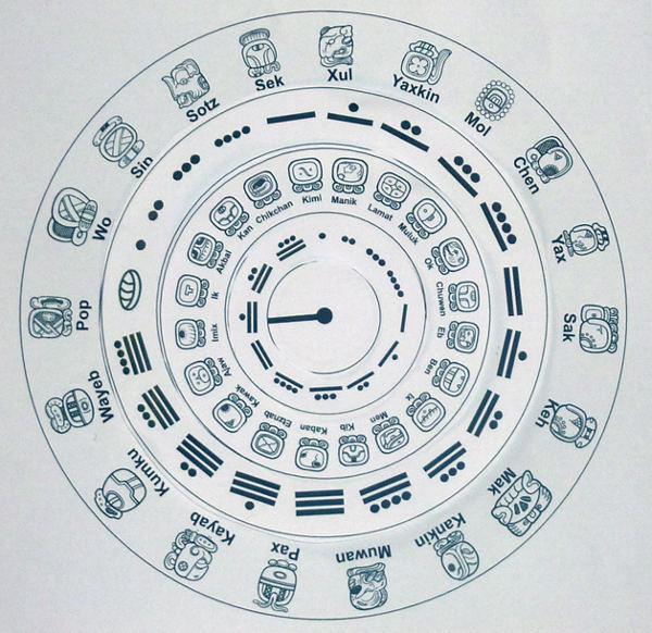Paper Maya Calendar - assembled