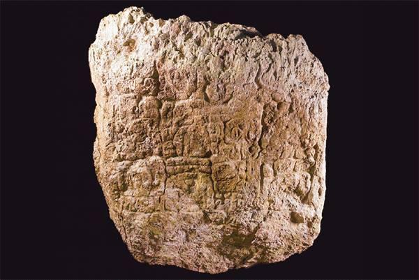Stela 24 from Naachtun, Guatemala. Photograph by Ignacio Cases.
