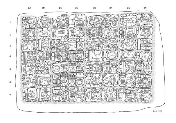 La Corona, Element 56. Preliminary drawing by David Stuart. (Please do not publish without permission of Proyecto Arqueológico Regional La Corona).
