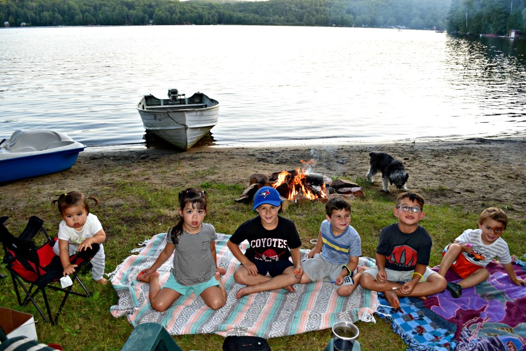 cottage campfire kids