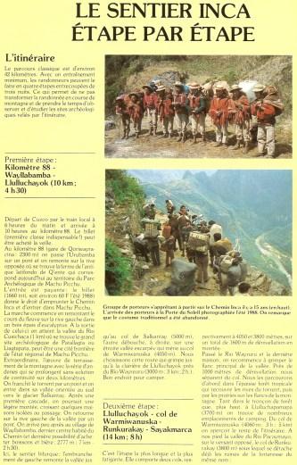 Peru 1989 Chemin Inca 08
