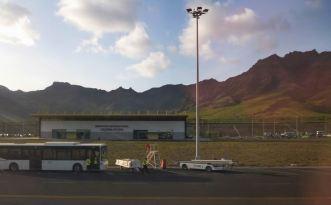 CaboVerde2013-M-01 Mindelo Aeroport Cesaria Evora tarmac