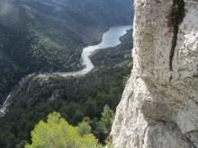 Espagne - Siurana río y el pantano del mismo nombre.
