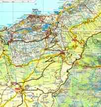 Espagne Tenerife FB carte Centre Nord