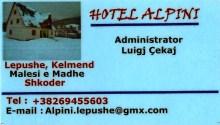 Carte Hotel Alpini Lepushe