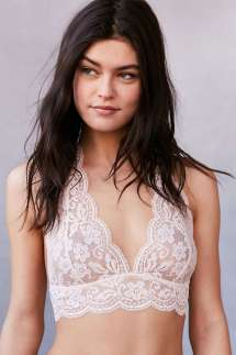 Urban Outfitters Cream Lace Bralette