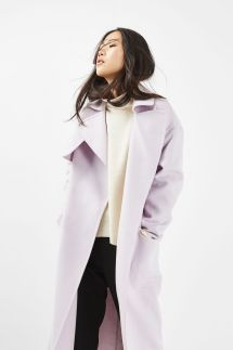 Topshop Light Pink Longline Coat