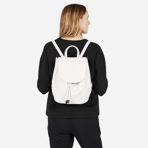 White Everlane Leather Backpack