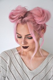 quick and easy space buns hairstyle