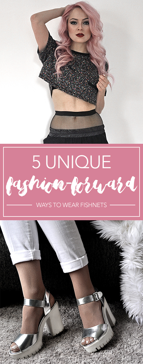 Take your tights game to the next level by following these 5 unique fashion-forward ways to wear fishnets. They are SO cute and totally doable!