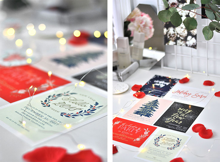 'Tis the season for Christmas parties, work parties, and cocktail parties. So check out these customizable holiday invitations by Basic Invite. SO cute!