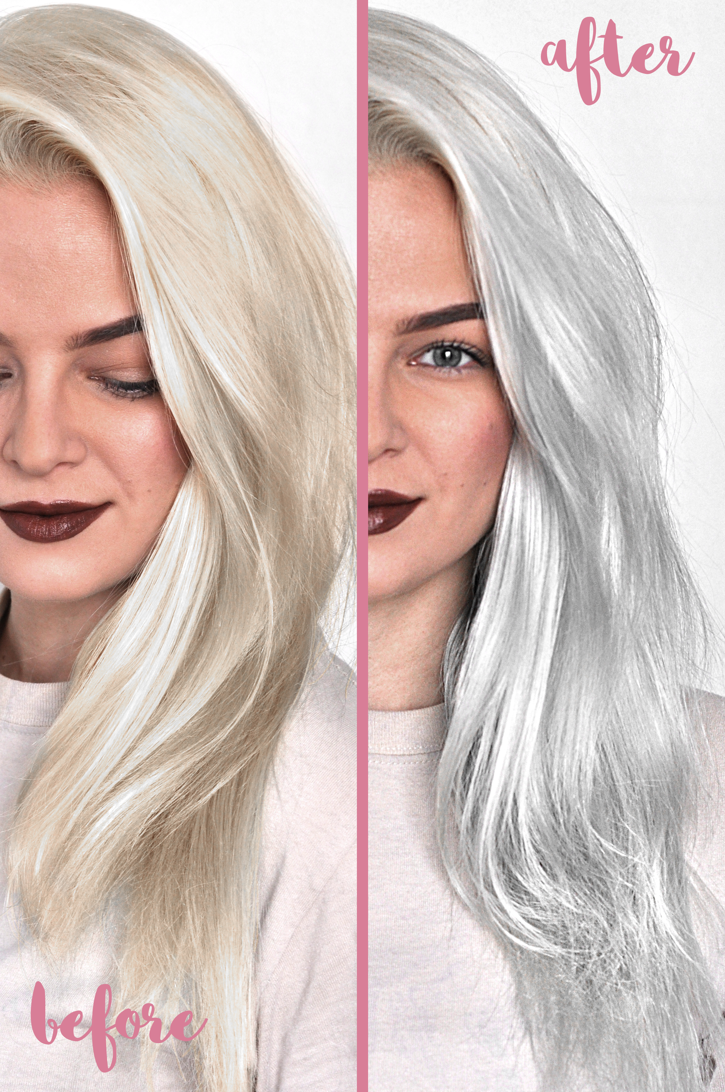 Silver and platinum blonde hair color all can