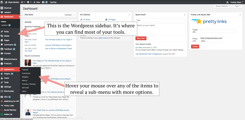 wordpress tips for beginners
