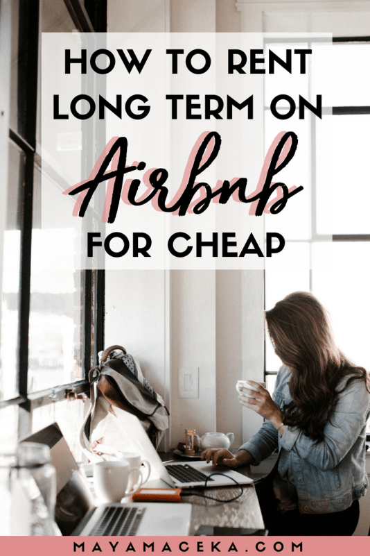 Wondering how to rent long term on Airbnb? In this thorough guide, I share my tips and tricks on renting monthly apartments on Airbnb! Click through to read more... #airbnb #digitalnomad