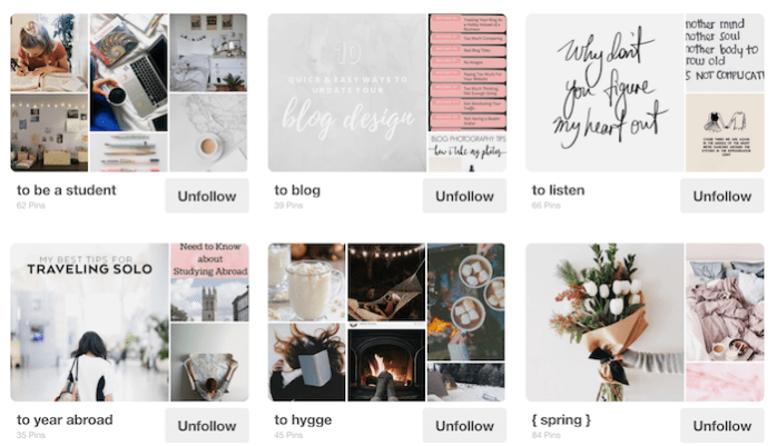 arranging your pinterest boards