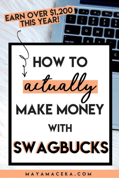 Want to turn Swagbucks into your side hustle? I will teach you how to actually make money with Swagbucks in this ultimate guide. Learn how to make money online and enjoy passive income! The perfect side hustle for stay at home moms. Click through to read the guide!