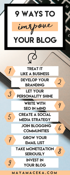 These blogging tips will help you improve your blog! Everything from blog branding, blog design, SEO and social media will help make your blog successful. Click through to find out more!