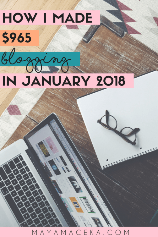 In this blog income report for January 2018, I will show you exactly how to make money blogging and share my best blogging tips. Click through to read more. #incomereport #makemoneyonline