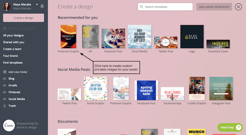 how to create pinterest images