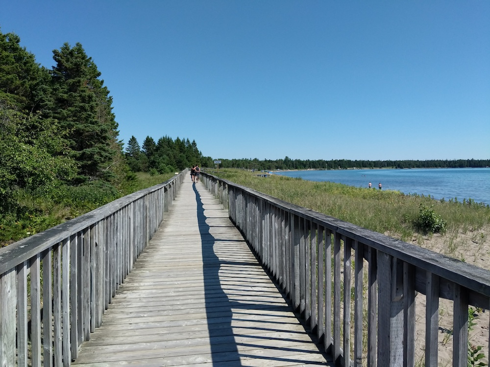 Boardwalk in Providence Bay