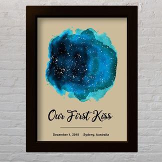 akvarel zvjezdano nebo zvijezde na određeni datum