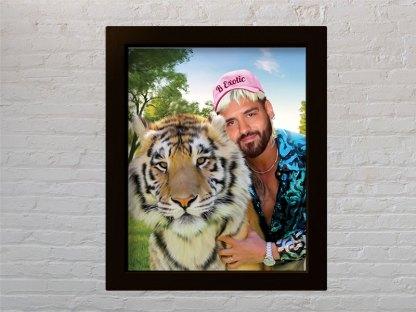 tiger king joe exotic personalizirani poklon portret