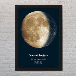 žuti mjesec i mjesečina na određeni datum