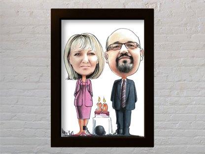 poklon karikatura za godišnjicu braka