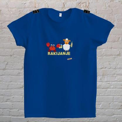 rak i janje piju rakiju rakijanje majica mayara plava