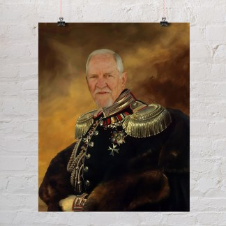 starinski portet generala kao poklon za rođendan