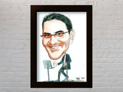 tarik filipović u milijunašu i potjeri kao portret karikatura