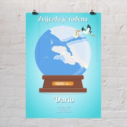 rođenej dečka poklon karta grada