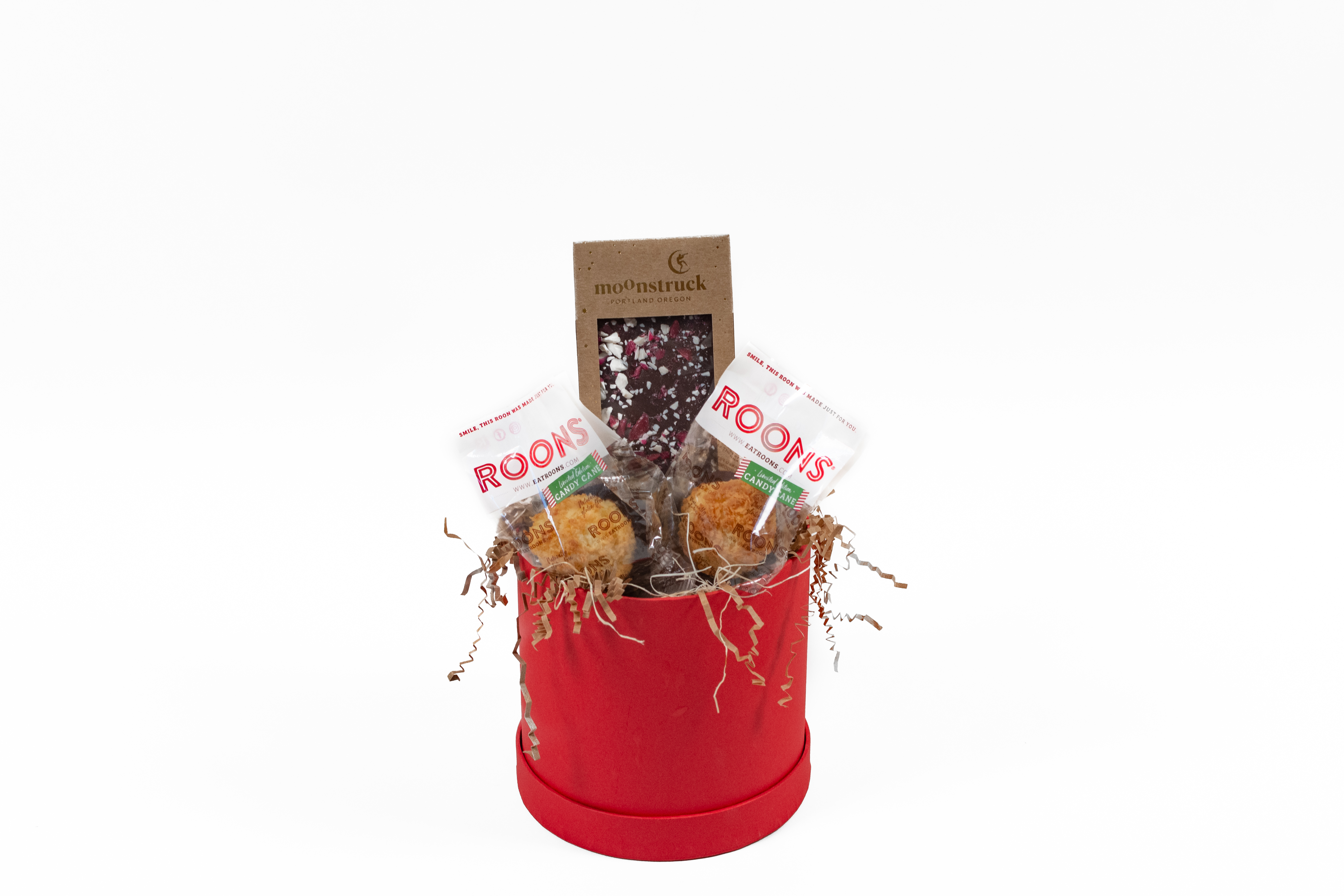Roons gift basket. Staged food photography
