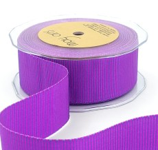 violet and pink two tone petersham grosgrain ribbon