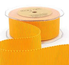 orange yellow two tone petersham grosgrain ribbon