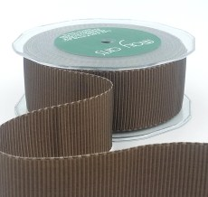 brown two tone petersham grosgrain ribbon