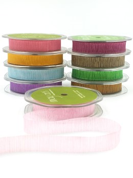 crinkled textured ribbons