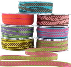 Reversible Polka Dot Woven Ribbon