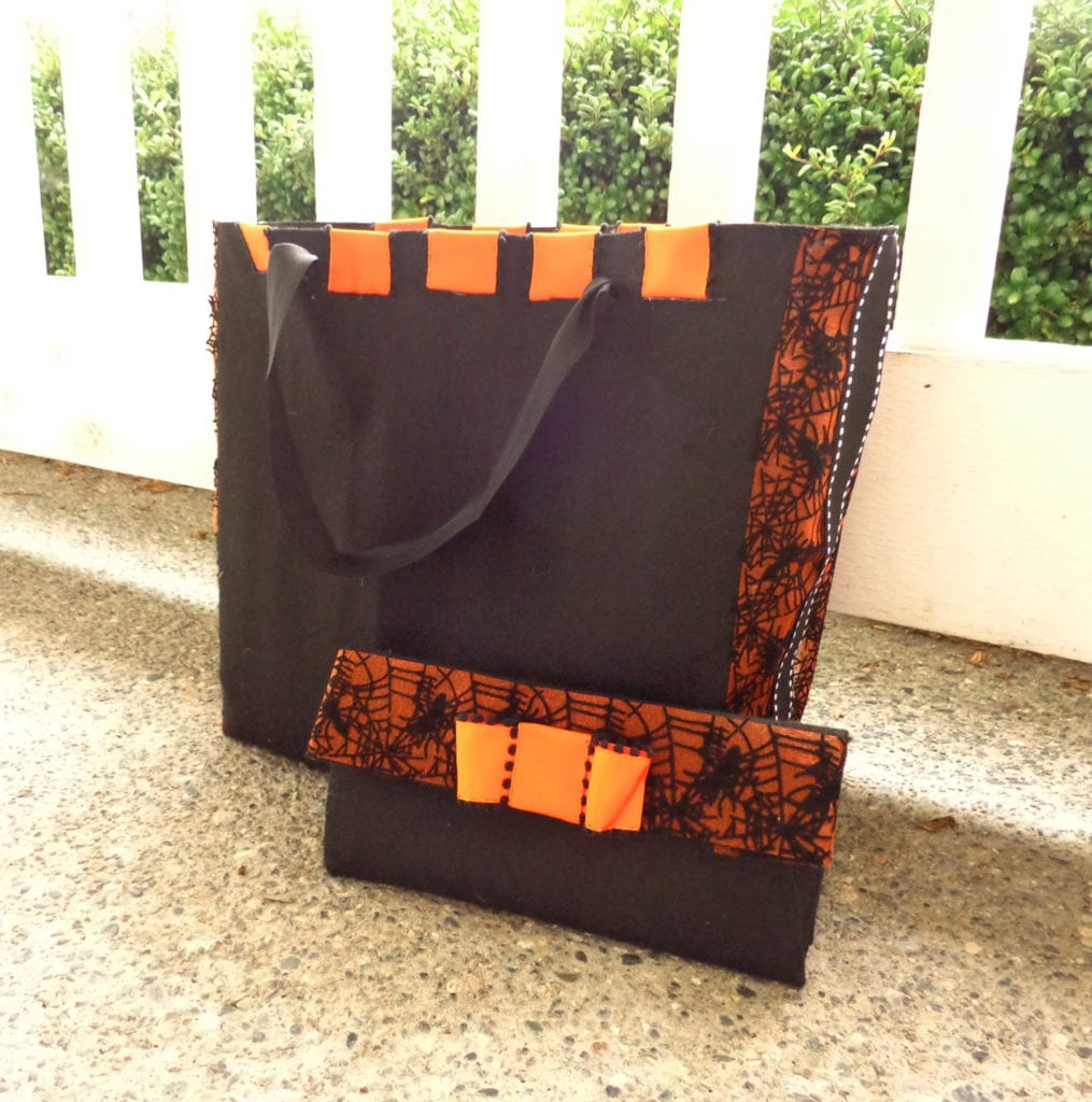 Trick or Treat Bag and Matching Clutch for Mom