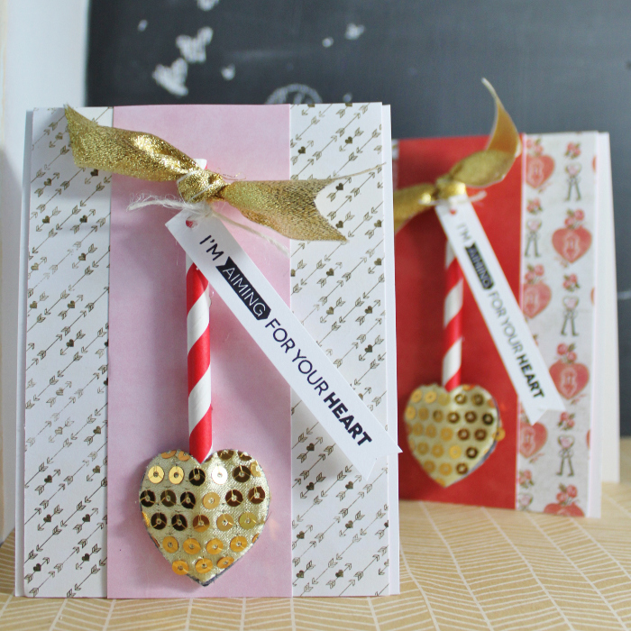 cute  easy to make last minute valentine's day cards