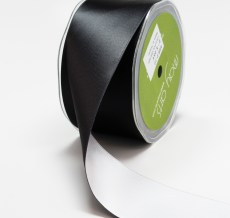 Reversible Black Satin Ribbon