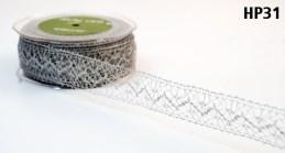 Silver Crochet Lace Ribbon