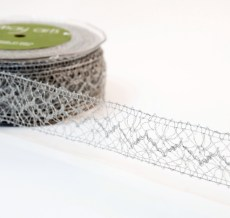 Silver Crochet Lace Ribbon