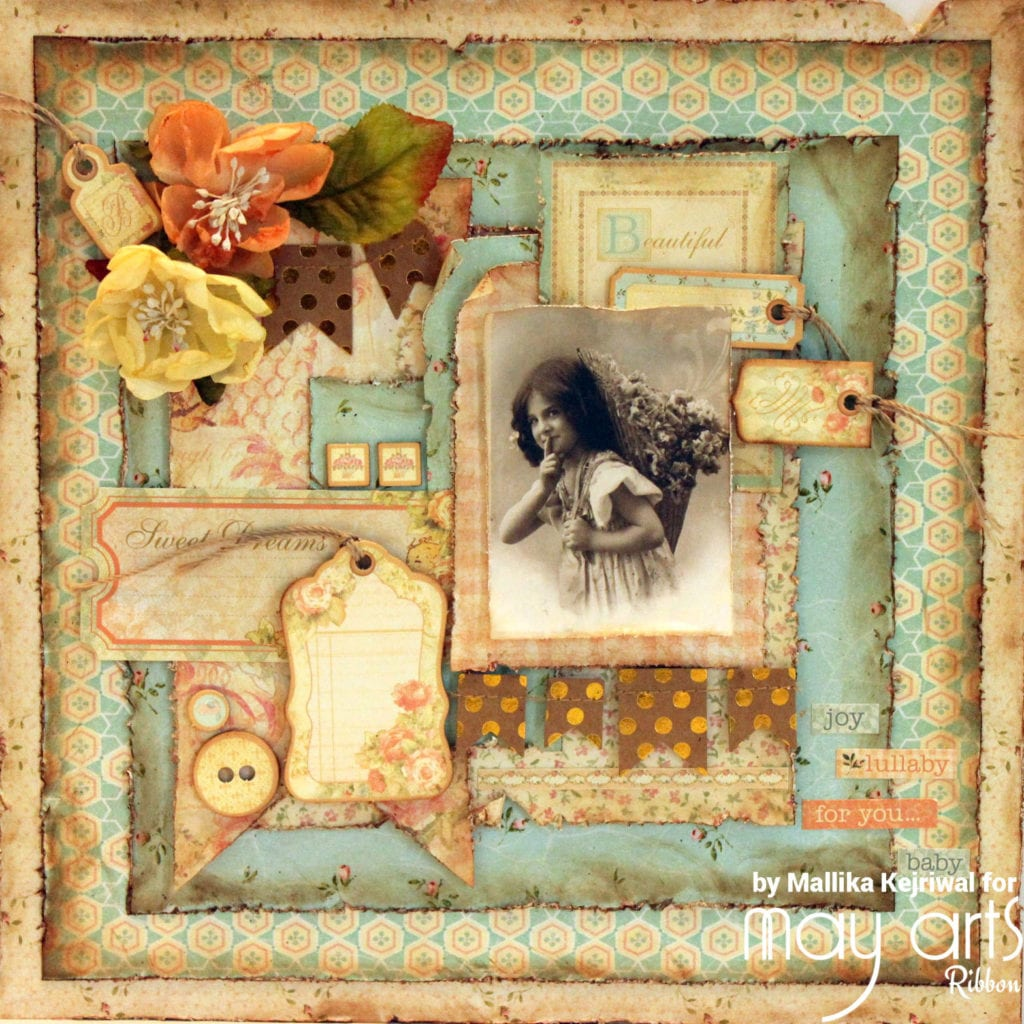 'Beautiful' Vintage Themed Layout