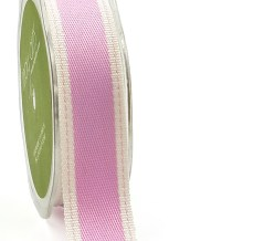 Lavender Color Band Stitched Edge Ribbon