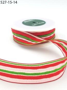red white green terrycloth stripes ribbon