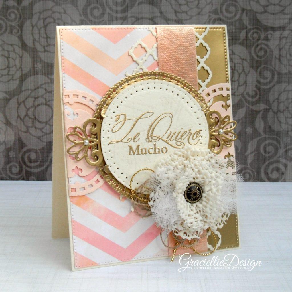 Card with Handmade Ribbon Embellishments