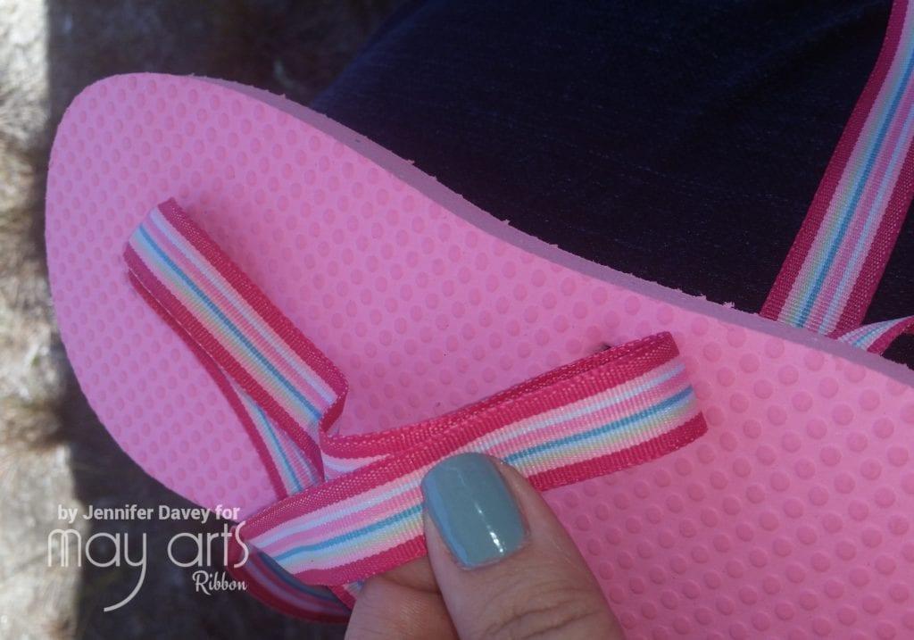 DIY: Ribbon Embellished Flip Flops