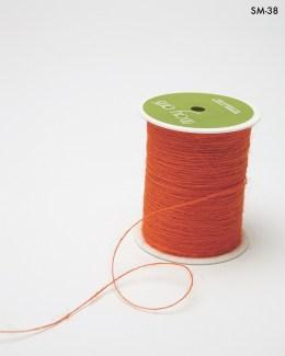 orange burlap string jute cord
